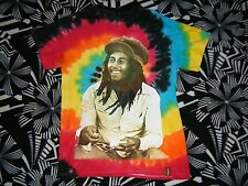 BOB MARLEY Tie Dye Burnin Apparel Graphic T Shirt Size Small Spencer's
