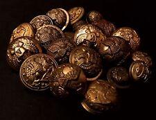 Civil War & Indian War military uniform brass button lot army, navy, etc.