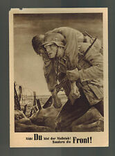1943 Krakow Poland Germany GG Wehrmacht Soldier Artists Postcard cover NSDAP Day