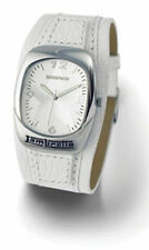 MENS LAMBRETTA LUSTRO STAR LEATHER WATCH - WHITE
