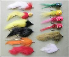 Pike Fishing Flies Bumper Pack - 12 in total - Mixed sizes  2/0 and 1/0