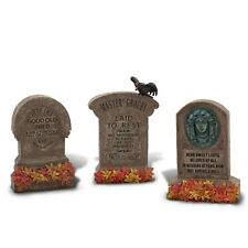 Disney Parks Disneyland Haunted Mansion Grave Tombstones Set of 3 Master Gracey