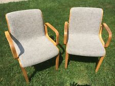 Vintage Knoll 1300 Series Arm Chairs, bentwood frame, by Bill Stephens 1970