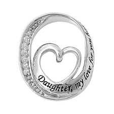 Silver Daughter My Love ... Pendant Sterling Silver 925 Best Deal Jewelry Gift