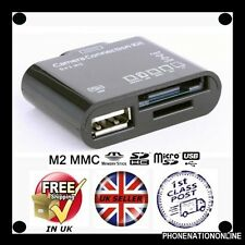 BLACK 5 in 1 USB MEMORY CARD READER PER IPAD 1 IPAD 2 CONNETTORE DUO CAMERA IPAD2
