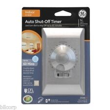 GE Auto Shut Off Timer, 60 Minute Countdown, Replaces Light, Fan, or Wall Switch