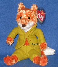 TY MR. TOD BEANIE BABY (BLUE LETTERING) - BEATRIX POTTER -  MINT TAGS - UK EXCL