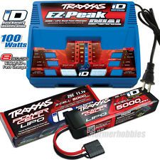 Traxxas EZ-PEAK DUAL Charger 2972 and (1) 2872X 11.1v 5000mAh LiPO ~~SLASH-VXL~~