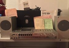 Sony CFS-100 Radio Cassette Player Recorder, Portable Boombox Walkman COMPLETE