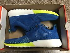 Nike Rosherun Mens Sneakers 511881 400 Military Blue/Tribe Green SZ 12 NO BOX