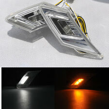For Scion FR-S Subaru BRZ 2x Amber white dual LED Side Marker Lights drl Signals