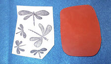 Insects dragonflies dragonfly rubber stamp unmounted die journaling papercrafts