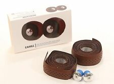Fyxation Cahill Leather Handlebar Tape Brown with alloy Bar-ends NEW in box!