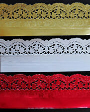 15 x ASSORTED PAPER LACE DOILY BORDERS/TRIMS EMBOSSED FOR CARDS, ARTS, CRAFTS