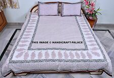 Cotton Printed Comfy Bedspread Bedding Set Hand Block Throw Double King Size