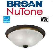 NEW NUTONE 80 CFM OIL RUBBED BRONZE ROUND BATHROOM EXHAUST FAN w/ GLASS LIGHT