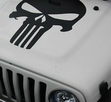 Decal sticker kit For Jeep Wrangler punisher skull mirror wing frond chrome lift