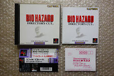 "Biohazard Director's Cut ""Very Good Condition"" Sony Playstation PS1 Japan"