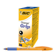 BIC ORANGE GRIP BALL POINT PENS // 20 PACK // BLUE INK // 811926