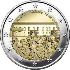 "MALTA - 2 € euro commemorative coin 2012 UNC - ""Majority Representation 1887"""