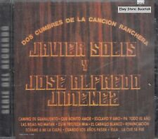 Javier Solis Jose Alfredo Jimenez Dos Cumbres De La Cancion Ranchera CD New