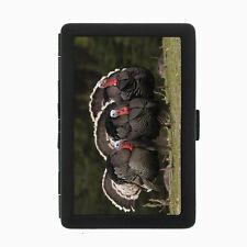 Turkey D3 Black Cigarette Case / Metal Wallet Thanksgiving Bird Wild Fowl