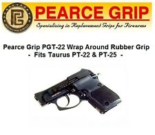 Pearce Grip PG-T22 # PGT22 For Taurus PT-22 PT-25 Wrap Around Rubber Grip BLACK