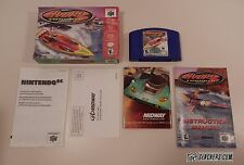 Hydro Thunder (Nintendo 64, 2000) COMPLETE IN BOX N64 Boat Racing w/ Mini-Poster
