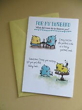 "American greeting Card Happy Birthday to my Husband ""what did i do to deserve u"