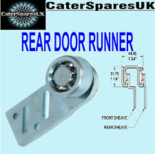 HOT CUPBOARD STRAIGHT REAR SLIDING DOOR RUNNER BEARING HANGER CATER SPARES PARTS