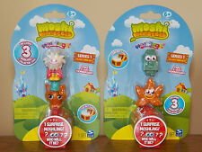 Moshi Monsters 2x3-Pack Moshlings=6 Figures,Series-1 Flumpy Ginger Rocky Fumble