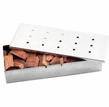 Stainless Steel BBQ Smoker Box With Lip Durable Flavor Wood Chips Barbecue Tool