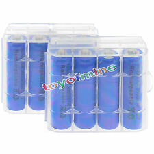 8x AA 2A 3000mAh 1.2 V Ni-MH rechargeable battery for Toys Camera + 2x Case Blue