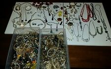 16 lbs VINTAGE ESTATE JEWELRY LOT UNSORTED BULK STERLING COSTUME GOLD FILLED LIA