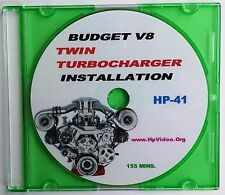 """Budget Twin Turbocharger Install Any V8 1000 HP+  """"How to"""" Video DVD SBF SBC"""