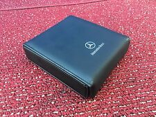 MERCEDES 2001-2007 C-CLASS CD CASE COLLECTION HOLDER LEATHER BLACK 79K OEM