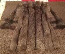 Vintage 1940's Gano Downs Silver Fox  Fur Coat Gorgeous