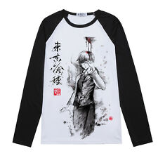 Cosplay Long Sleeve Anime Tokyo ghouls Casual Unisex Clothing  BF T-shirt