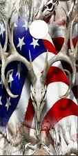 American Deer Buck Snow Camo Cornhole Wrap Bag Toss Skin Decal Sticker Wraps