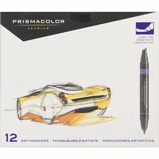 Prismacolor Premier 12 Art Markers Primary & Secondary Colors Double Ended NEW!
