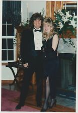 Found PHOTO Young Couple In Fancy Outfits Tux & Dress w/ Slit For Event