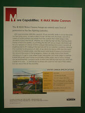 2000'S DOCUMENT A4 KAMAN AEROSPACE K-MAX WATER CANNON HELICOPTER FIRE FIGTHING