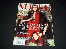2008 AUGUST VOGUE PARIS MAGAZINE IN FRENCH - DARIA WERBOWY - MODELS - D 1387