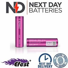 GENUINE EFEST 3000 MAH 35 AMP BATTERY LI-MN PURPLE 18650 IMR HIGH DRAIN VAPE