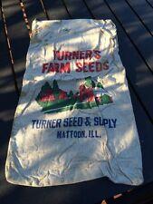 Turners Farm Seed Cloth Bag Mattoon Illinois