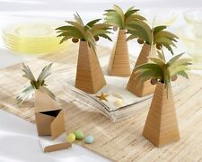 Palm Tree Beach Wedding Bridal Shower Favor Boxes Set of 24 Summer Destination