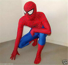 Red&Blue Fancy dress party lycra spandex zentai spiderman catsuit Back Zip S-XXL