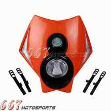 Dirt Bike Off Road Front Lights Motorcycle Headlight With Led Turn Signal Orange