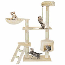 141cm Cat Tree Play House Tower Condo Furniture Scratch Basket For Playing Game
