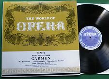 World of Opera Bizet Highlights from Carmen Tassinari Corelli + OH 125 LP